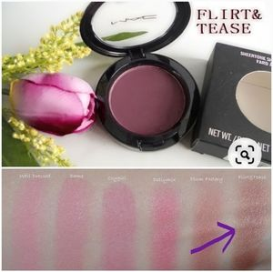 "NEW•MAC• SHEERTONE SHIMMER BLUSH  ""FLIRT & TEASE"""